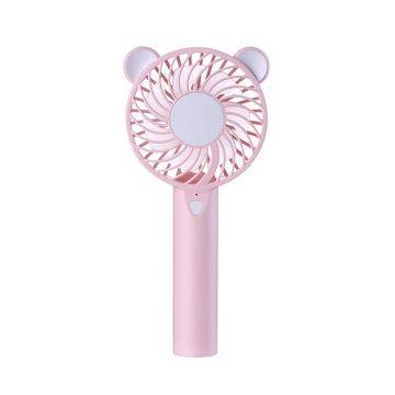 『四號出口』  夏日大作戰【 熊寶寶LED小風扇 】 造型 迷你 USB充電 風扇 手持 LED燈 輕便 高續航 兒童