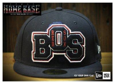 NEW ERA 59FIFTY 【公館HOME BASE專賣店】MLB Boston 紅襪隊 -- 英文字母刺繡款