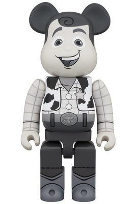 Medicom Disney Toy Story 400% Woody Black & White 胡迪 牛仔 Be@rbrick Bearbrick