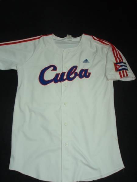 貳拾肆棒球--古巴代表隊奧運選手親筆簽名實際使用主場球衣/ adidas製作