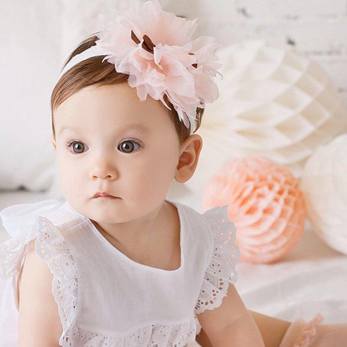 ☆草莓花園☆B41嬰兒仙女紗紗花朵髮帶女童小寶寶頭飾 百天照頭飾 嬰兒髮帶 髮冠 皇冠 造型周歲照 藝術照