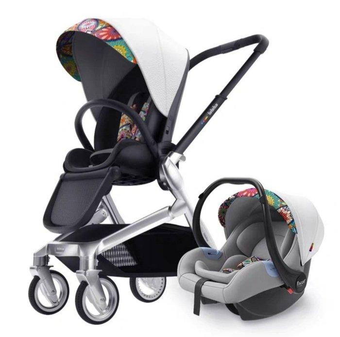 bebebus藝術家嬰兒推車雙向輕便高景觀寶寶推車提籃套裝現貨