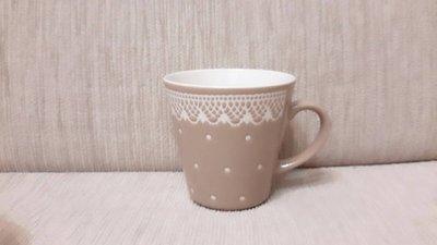 天使熊小鋪~日本帶回編織花紋馬克杯 全新現貨咖啡杯 非隨行杯 高約10公分