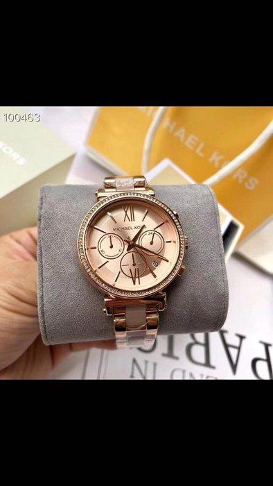 MICHAEL KORS 全新優雅時尚女士石英手錶 附盒子 禮品袋