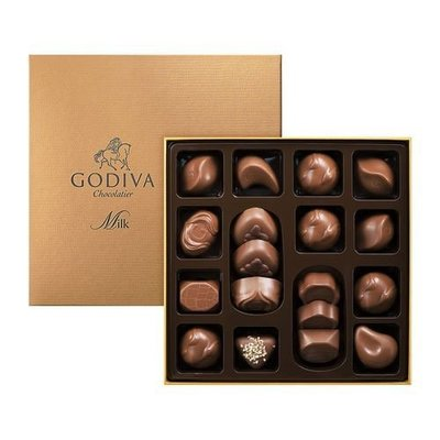 (缺貨中勿下標)請先詢問[要預購] 英國代購 比利時GODIVA 牛奶巧克力禮盒18件 220g