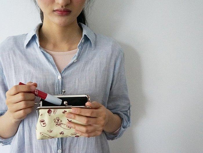 【 にっぽん CHACHACHA 】日本製 日本文化象徵 逗趣插圖 帆布 珠釦 口金 零錢 包