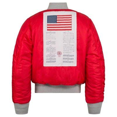 AF Store* ALPHA INDUSTRIES MA-1 BLOOD CHIT 血幅 美版 飛行夾克外套 銀灰