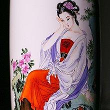 【凡了居】景德鎮陶瓷手繪花瓶名家純手工粉彩工筆四美 開心陶瓷796