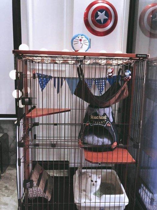 出口猫笼出口日本两层三层四层大号猫别墅猫咪笼子实木木框猫别墅