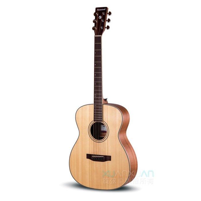 ☆唐尼樂器︵☆ NeoWood SOM-L OM 桶身 雲杉面單板 雷斯木側背板 木吉他 民謠吉他 送超值配件