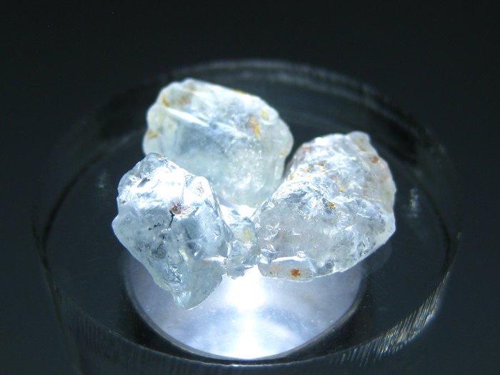 拓帕石 Topaz 天然無燒無處理 自然藍 原礦 標本 礦石 13【Texture & Nobleness 低調與奢華】
