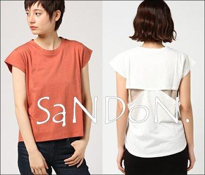 SaNDoN x『SLY』夏季新產品 設計感十足挖空設計拼接背後上衣短TEE MOUSSY 韓妮 170810