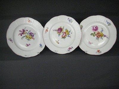德國名瓷麥森Meissen 24K金邊  花卉畫盤 一級典藏品 歡迎提問詢價