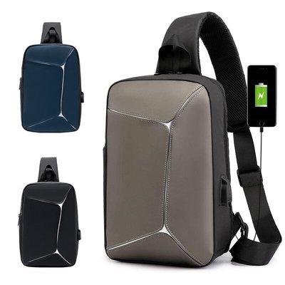 【 新和3C 送手機支架 】 外貿版大容量單肩包 側背包 斜背包 USB胸包 後背包 電腦包