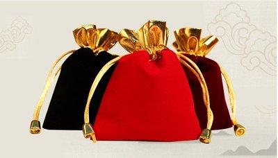 EOS 時尚精品 超喜氣高質感金束口優質高級絨布袋 束口袋 首飾袋 贈品袋 收納袋 飾品袋 手機袋 多色可選 珠寶銀飾