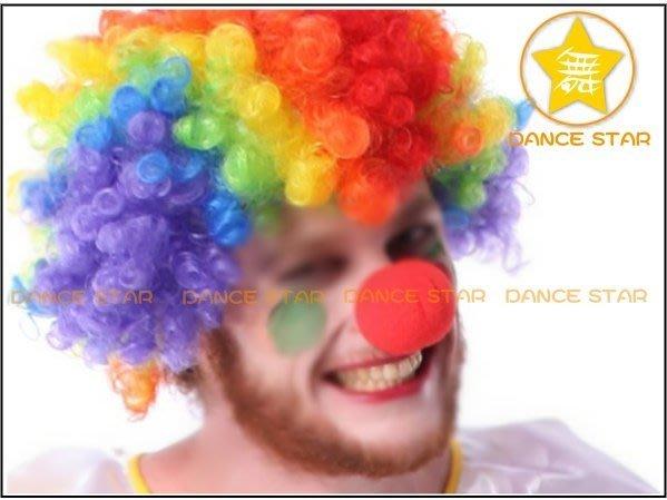 星星【萬聖聖誕派對Cosplay魔術小醜反串秀】M337#-小丑紅色假鼻子-泡棉鼻-夾式小丑鼻-表演紅鼻子-10元/個