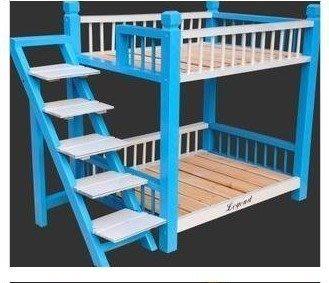 新款實木寵物雙層木床、狗狗木床、貓咪木床、泰迪小型犬木床狗床