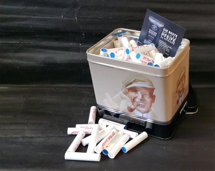 ONE*$1~德國VAUEN*Dr Perl Junior-9mm陶瓷《活性碳濾心 》200支*典藏馬口鐵罐裝*3款任選