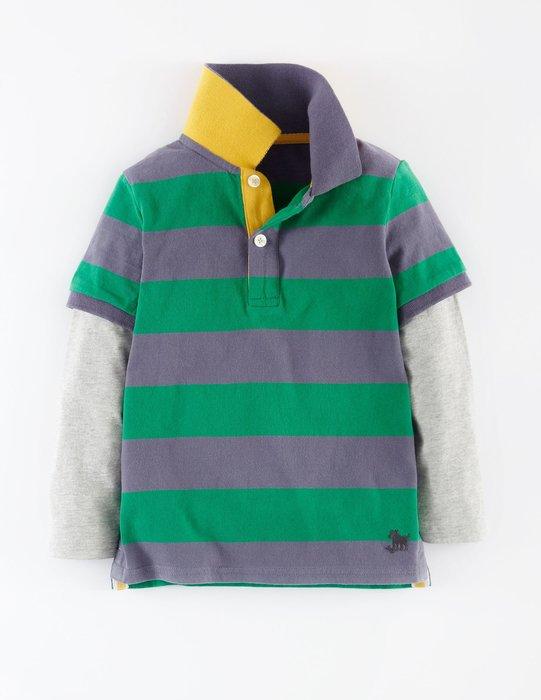 *小豆仔的屋Dou Dou House*英國歐洲進口Mini Boden童裝/男童假兩件式POLO衫(現貨+預購)