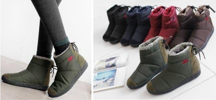 『※妳好,可愛※』 韓國童鞋 Ollie雪靴類似款親子防水靴子 短靴 親子鞋 輕巧防水短雪靴大人款