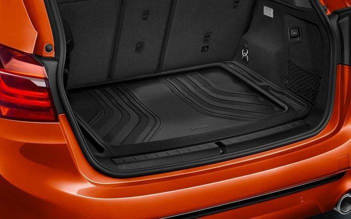 【樂駒】 BMW F45 2AT  原廠 加裝 套件 車內 周邊 後車廂 行李箱 襯墊 防水 防污 導水線 橡膠