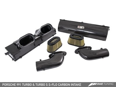 =1號倉庫= AWE Tuning 碳纖維 Carbon 冷空氣 進氣套件 Porsche 991 Turbo S