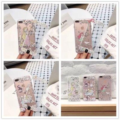 愛麗絲 美人魚iphone6s plus透明手機殼 i7 plus長髮公主 鋼化膜 保護貼 卡通 可愛防爆膜 新北市