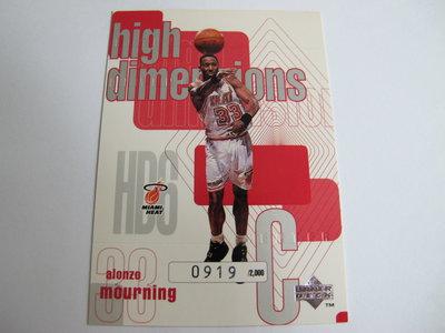 ~ Alonzo Mourning ~1997年UD老卡 晨星.腎鬥士/阿朗佐·莫寧 NBA球星  限量特殊卡