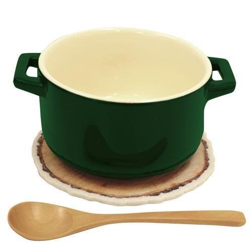 日本代購 STUMP SOUP 瓷器天然 木製 湯碗組 附湯匙.隔熱墊 共3色 歐風湯碗組