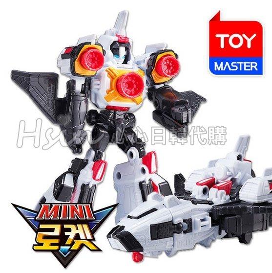 自取免運/超取【Hsin】🇰🇷韓國代購 正版 新 機器戰士Tobot V 迷你 白色 火箭 變形機器人 太空梭 玩具