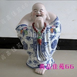 INPHIC-佛像 彌勒笑佛 陶瓷佛像擺飾佛珠佛教用品工藝品擺設高檔雕塑 恭喜羅漢