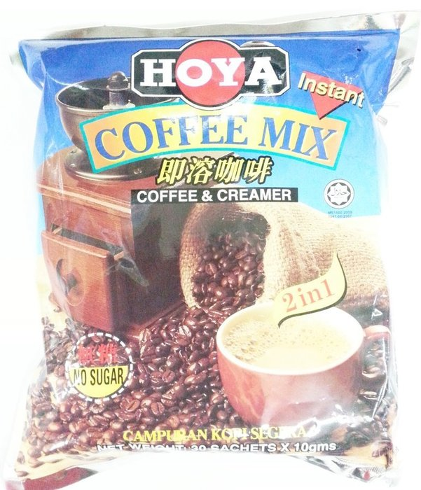 HOYA  2合一即溶咖啡10g*30包入☆馬來西亞原裝進口【特價160元】超商取貨付款,限購8包.謝謝!