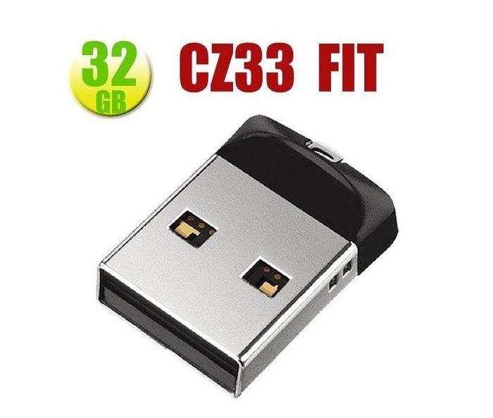 SanDisk 32GB 32G Cruzer FIT【CZ33】CZ33 USB 2.0 隨身碟