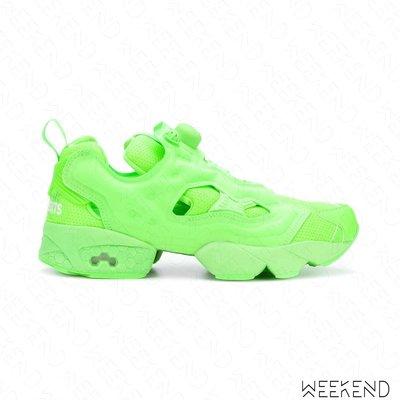 【WEEKEND】 VETEMENTS x REEBOK Instapump Fury 休閒鞋 銀光綠色 18秋冬