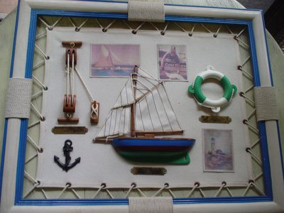 DOUBLE PURCHASE PEN DUICK BUOY FRAME WOOD SIZE 43X35CM
