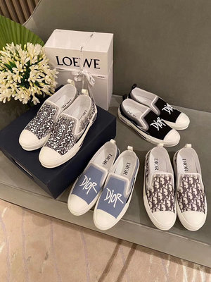 Christian Dior CD 超美樂福鞋 便鞋 休閒鞋 經典印花 簡約素色都好美 中性款Vintage Loafer