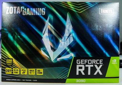 【新魅力3C】全新 只有5片 ZOTAC GAMING RTX 3090 Trinity 四年保固 ~馬上可出