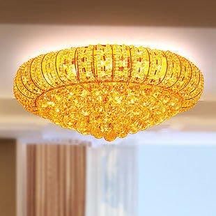 {美學}燈具臥室吸頂燈 餐廳燈 房間燈 圓形燈 金色客廳水晶吸頂燈29MX-2123