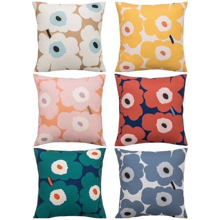 ??♀️限量芬蘭款✨Marimekko 風格 原版布訂製枕套 寢具 抱枕套 花朵枕套 花朵包 幾何圓點質感品牌枕套