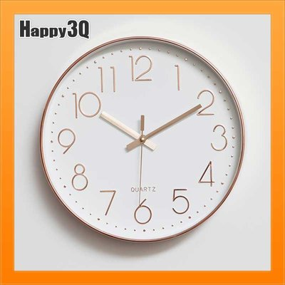 12吋掛鐘時鐘壁鐘現代簡約靜音圓形房間時鐘客廳壁飾-銀/黑/綠/橘/黑/白/玫瑰金【AAA2412】預購