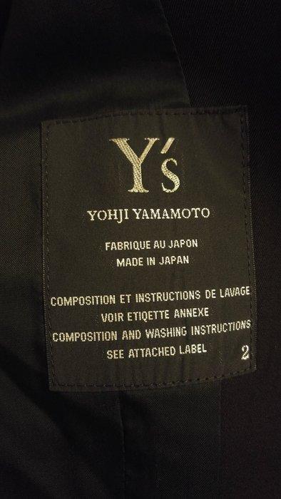 原價五萬多 Y's Yohji Yamamoto 黑色收腰單排西裝