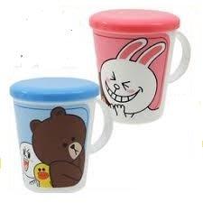 41+ 現貨不必等 正版授權 LINE 熊大 兔兔 日本製 杯子加蓋 my4165