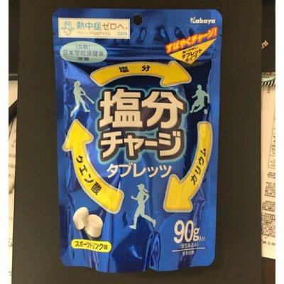 【JJ日貨】新品上市 夏季限定 Kabaya 卡巴塩分補給糖 運動補給糖 鹽糖 塩錠