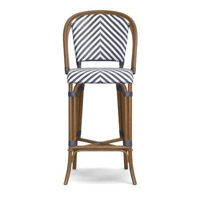New 進口 美麗的藤椅 條紋編織 吧檯椅 高腳椅