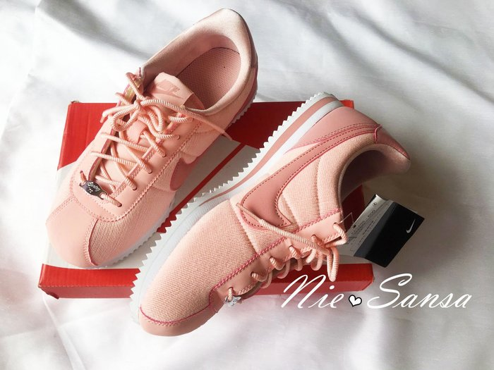Nie Sansa 正品日本帶回Nike Cortez SE  阿甘鞋 24.5/39碼 限定玫瑰粉 櫻花粉 AA349