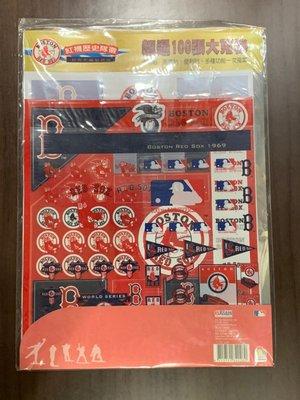 MLB 波士頓紅襪隊 歷史隊徽貼紙 內有各式紅襪logo貼紙 (透明貼 亮面貼 便利貼等)