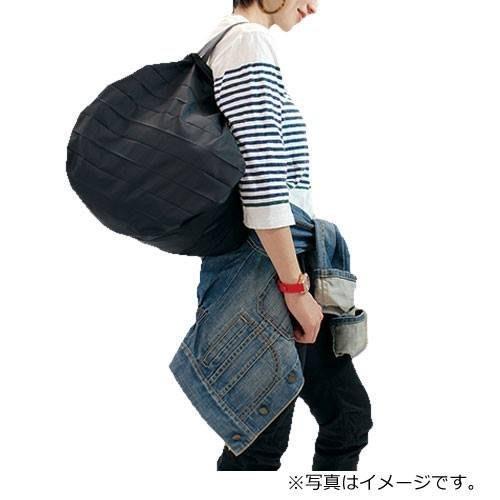 日本 Shupatto簡約風格超大容量折疊式萬用包/購物袋 黑色M號