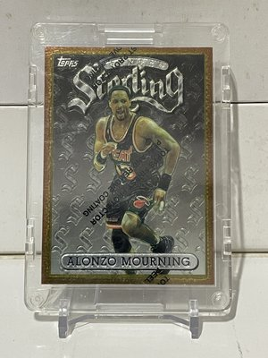 1996 topps finest sterling ALONZO MOURNING