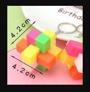 雜貨小鋪 塑料方鎖孔明鎖創意拼球掛件兒童小學生益智力玩具六一禮物/批量可議價