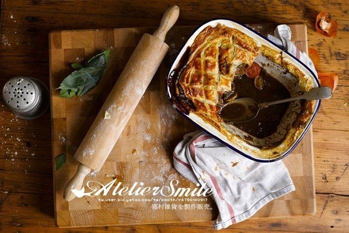 [ Atelier Smile ] 鄉村雜貨 歐洲進口櫸木 烘焙廚房專用 無漆可活動把手擀麵棍-大款 (現+預)